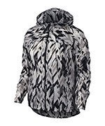 Bėgimo striukė moterims NIKE IMPOSSIBLY LIGHT JACKET HOODED PRINT / 831177-010