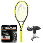 Teniso raketė HEAD GRAPHENE TOUCH EXTREME MP + HEAD HAWK stygos + tempimas / 232207