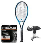 Teniso raketė HEAD GRAPHENE TOUCH SPEED MP BLUE LTD. + HEAD HAWK stygos + tempimas / 234208